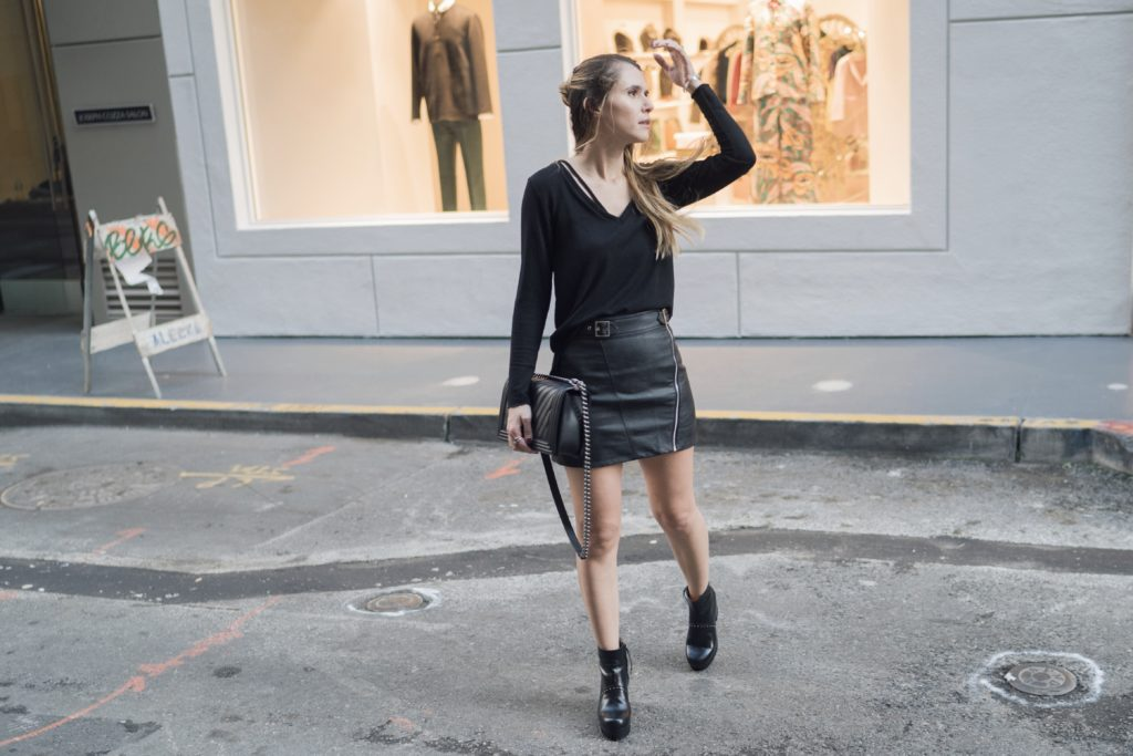 fashion mews black on black
