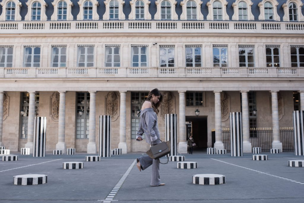 monochrome dreams in Paris palais royale