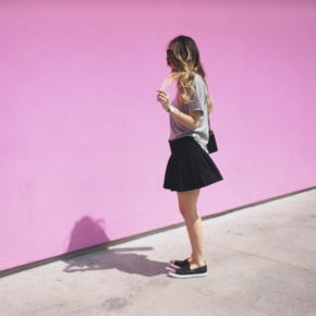 blogger brunches and a pink wall